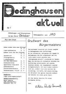 Nr. 1 - Oktober 1972