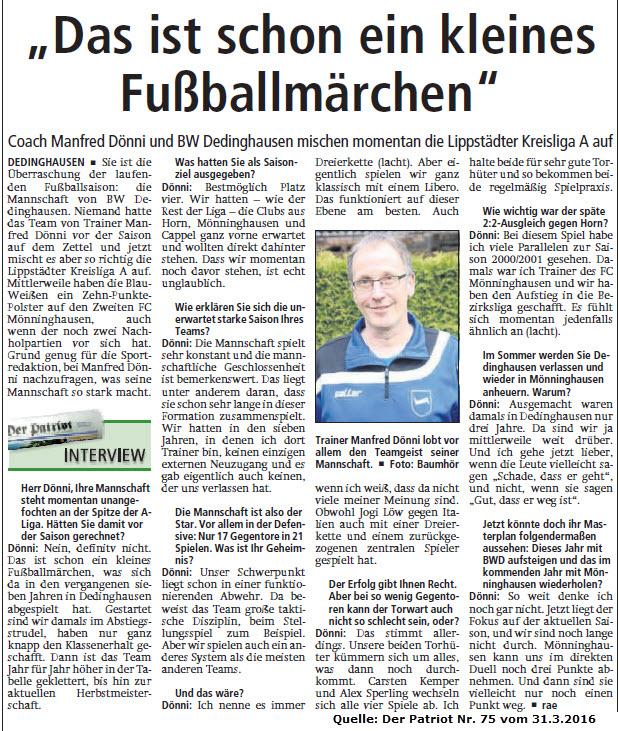 Fussball Dedinghausen