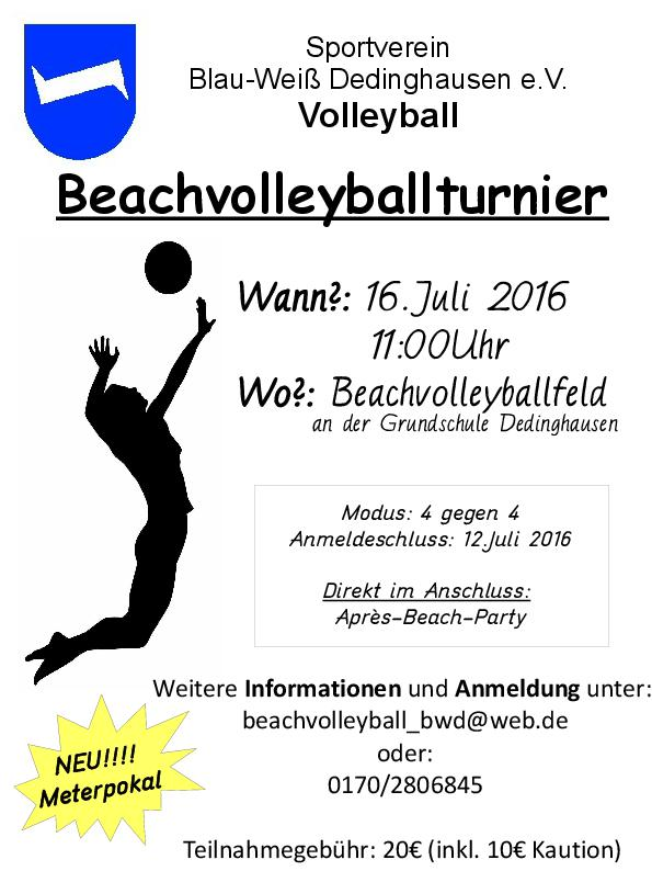 Volleyballplakat