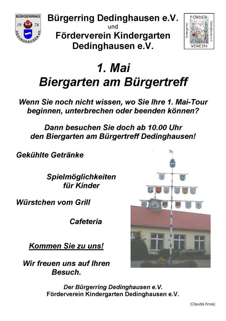 Biergarten am Bürgertreff